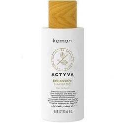 Kemon actyva bellessere, aksamitny szampon arganowy do włosów i ciała 100ml