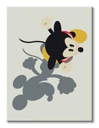 Mickey mouse shadowed - obraz na płótnie
