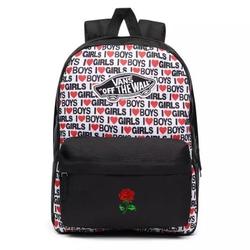 Plecak szkolny vans realm i heart boys girls custom rose - vn0a3ui6vda