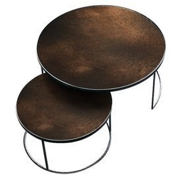 Notre monde :: zestaw stolików bronze copper nesting