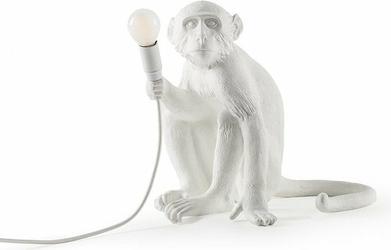 Lampa Monkey biała stołowa siedząca