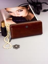 Pojemny portfel damski brązowy px25-2 - brązowy