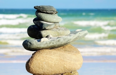 Fototapeta na ścianę kamienie na plaży fp 22