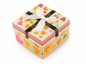Prezentowe pudełko na zegarek - kokardka Elegant - beżowe