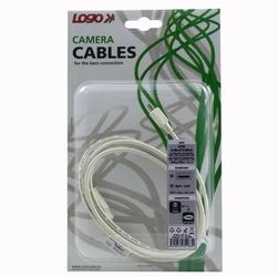 Kabel USB 2.0, USB A M- 4 pin M, 1.8m, czarny, Logo, blistr