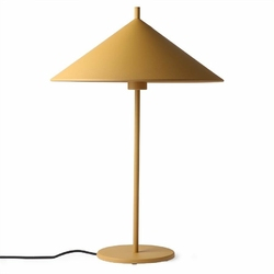 HK Living :: Lampa stołowa Triangle metalowa musztardowa mat, rozm L
