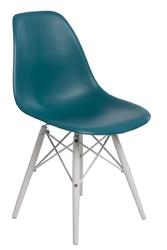 Krzesło p016w pp inspirowane dsw white - niebieski