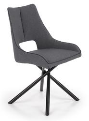 Tapicerowane krzesło z krzyżującą się podstawą k409