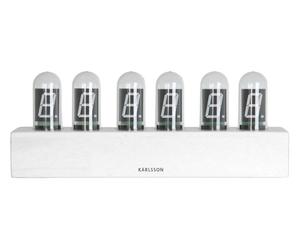 Karlsson :: Zegar Cathode biały - czarny || biały