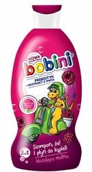 Bobini, Musująca Malina, szampon, żel i płyn do kąpieli, 330 ml