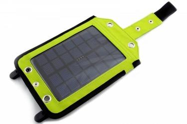 SUNEN PowerNeed - Ładowarka solarna 2.5W z akumulatorem 3000mAh, Li-Poly, zielona