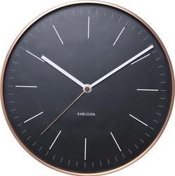 Zegar ścienny Minimal miedziany czarny