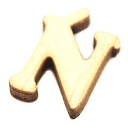 Drewniana literka do rękodzieła - Ń - N