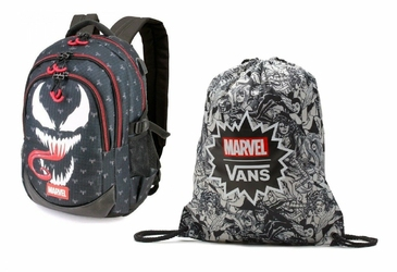 Plecak Szkolny Marvel Venom + Worek Vans Marvel - VN0A3RCLBLK - VN000ONIHU0 006