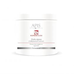 Maska algowa z liofilizowanymi malinami apis professional raspberry glow 200 g