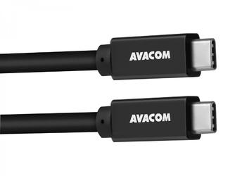 Kabel usb 3.2, usb c m- usb c m, 1m, czarny, avacom