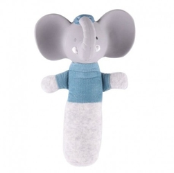 Meiya  alvin - alvin elephant organic soft squeaker z kauczukową główką