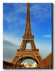 Eiffel tower at daylight, paris - obraz na płótnie