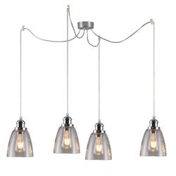 Delikatna lampa wisząca voice candellux na 4 żarówki 34-70838
