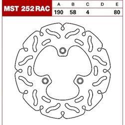 Trw tarcza hamulcowa mst252rac sym beta malaguti b