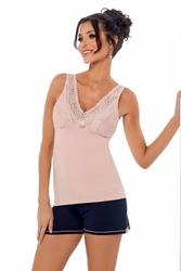 Donna klaudia 12 różowa piżama damska
