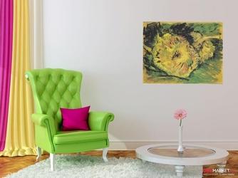 dwa ścięte słoneczniki vincent van gogh ; obraz - reprodukcja