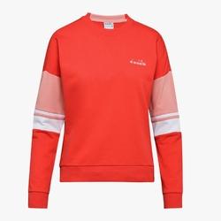 Bluza damska diadora l. crewneck sweat logo - czerwony