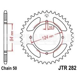 Zębatka tylna stalowa jt 282-34, 34z, rozmiar 530 2300177 honda cb 550