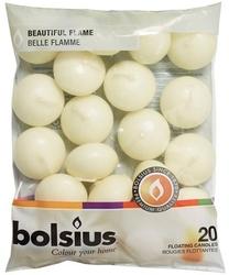 Bolsius, kremowa, świeca pływająca, 20 sztuk