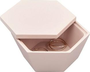 Pudełko na biżuterię Geo Trinket różowe
