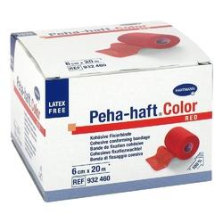 Peha haft color fixierbinde latexf.6cmx20m rot