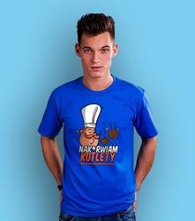 Nakurwiam kotlety t-shirt męski niebieski xl