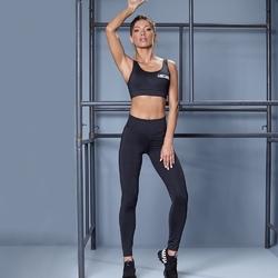 Zestaw fitness labellamafia set lbm sports black sports bra + legging