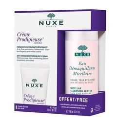 Nuxe creme prodigieuse enrichie krem do skóry suchej 40ml + rose petal woda micelarna do demakijażu 100ml