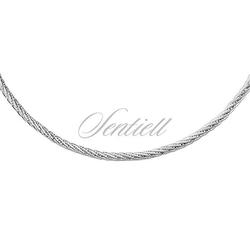 Srebrny łańcuszek ozdobny pr.925 rodowany - rodowanie