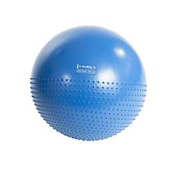 Piłka gimnastyczna masująca yb03 55 cm niebieska - hms - niebieski