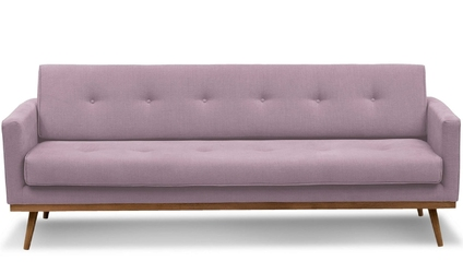 Sofa klematisar z funkcją spania 3-osobowa  pudrowy róż