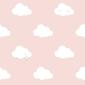 Tapeta różowa w białe chmurki nd21115 sweet dreams