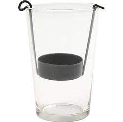 Szklany świecznik na tealight 10,5x5 cm
