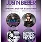 Justin bieber - zestaw 4 przypinek