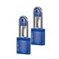 Dwie niebieski kłódki na klucz - midnight blue