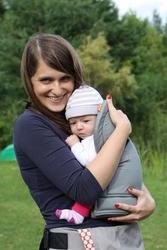 Wkładka dla niemowlaka do nosideł tula szara