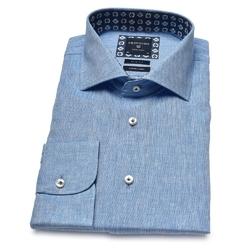 Lniana błękitna koszula profuomo originale 45