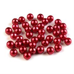 Koraliki perłowe 8mm10 g - czerwony - CZE