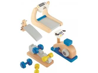 DOMOWA SIŁOWNIA drewniane akcesoria dla lalek