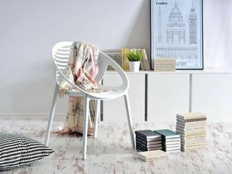 Krzesło ażurowe basil białe