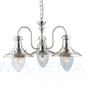 Fisherman lampa wisząca 3 satynowy srebrny