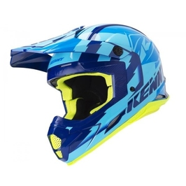 Kenny kask off-road track navy sky blue 2019