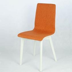 Luka nowoczesne biało -pomarańczowe krzesło