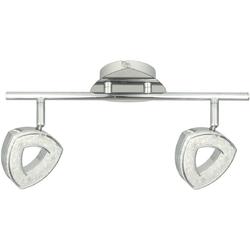 Chromowana lampa sufitowa - 2 punkty regulowane LED DeMarkt Techno 704023902